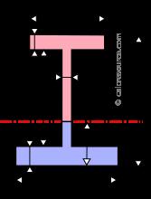 Unequal I beam plastic neutral axis
