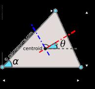 Moment of inertia of triangle around principal centroidal axes